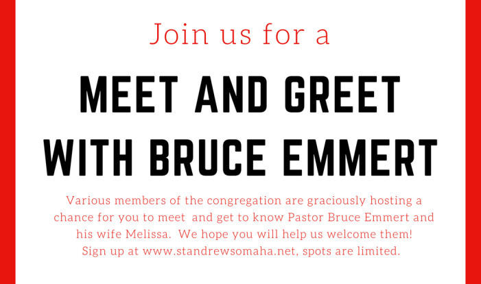 Pastor Bruce Meet and Greets